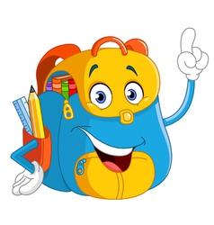cartoon backpack vector image