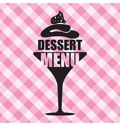 Dessert menu background vector