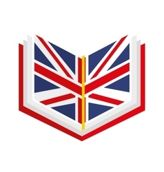 english book isolated icon design vector image
