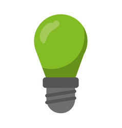 green bulb lamp light environment vector image