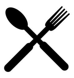 icon kitchen cutlery vector image