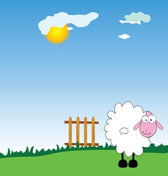 sheep on the farm vector image vector image