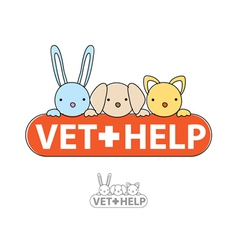 sign of veterinary care vector image vector image