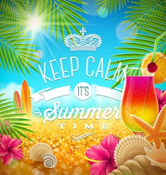 Summer holidays greeting tropical design vector image vector image