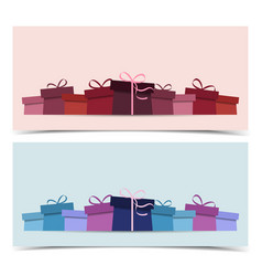 background with presents vector image vector image
