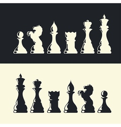 chess pieces collection vector image