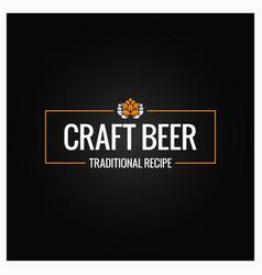 Craft beer logo design background vector