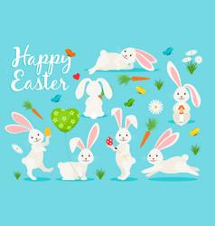 eastern bunny banner design vector image vector image
