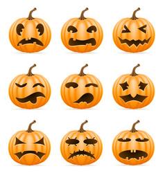 horrible pumpkin halloween stock vector image vector image