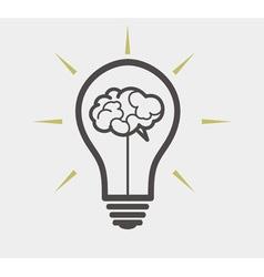 idea concept - bulb and brain vector image