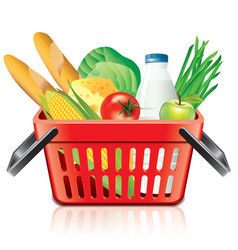 object shopping basket products vector image
