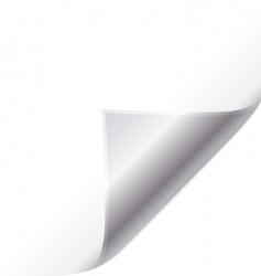 silver page curl vector image vector image