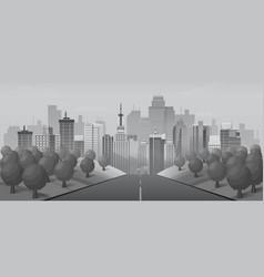 grey road to urban city vector image