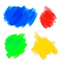 hand drawn paint brush texture vector image