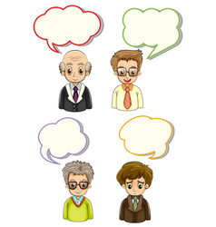 men with different bubble speeches vector image