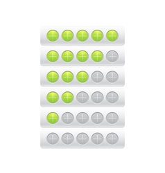 progress bar from plusses in circles vector image vector image