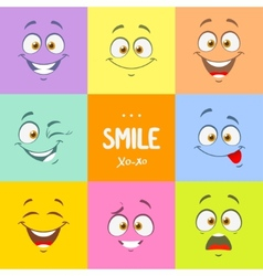 smile set vector image vector image