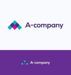 A letter love logo vector image