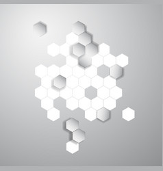 Abstract color 3d hexagonal honeycombs vector