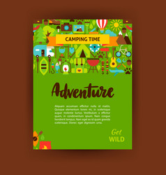 adventure template poster vector image