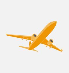 Air cargo flies across sky delivery goods vector