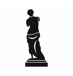 Ancient statue icon simple style vector