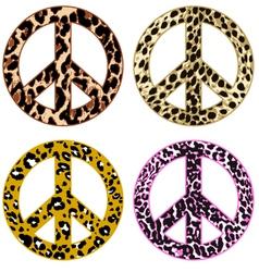 animal print peace design vector image vector image