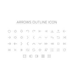 arrows line icon set vector image