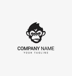 bad ape logo vector image