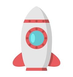 Beautiful rocket with porthole vector image