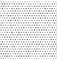Black and white seamless pattern with dots vector