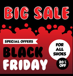 black friday banner ad for your business event vector image