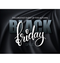 black friday poster with 3d vector image