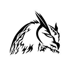 Black owl sign vector