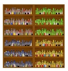 Books are on bookshelves vector