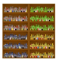 Books are on the Bookshelves vector