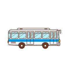 bus public transport urban vehicle vector image