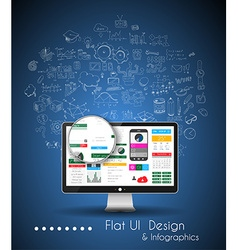 Business Solution and Idea Conceptual background vector