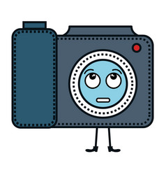camera photographic kawaii character vector image