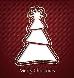 Christmas postcard design with denim jeans vector