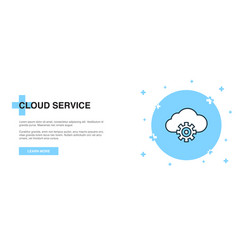 cloud service icon banner outline template vector image