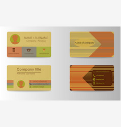 Colorful stylish business card print template vector