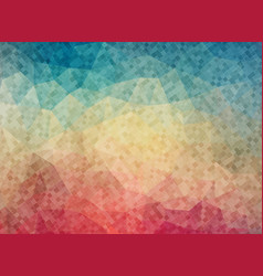 Colorfull background with small square shapes vector