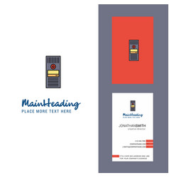 cpu creative logo and business card vertical vector image