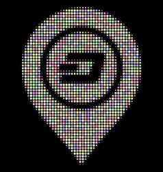 dash map pointer halftone composition of circles vector image
