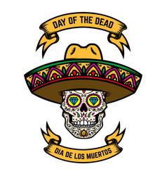 Day dead dia de los muertos mexican sugar vector