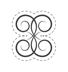 Decoration ornament swirl filigree vector