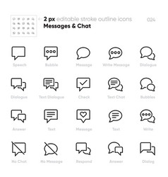dialogue bubbles outline icons chat vector image