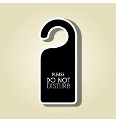 do not disturb design vector image