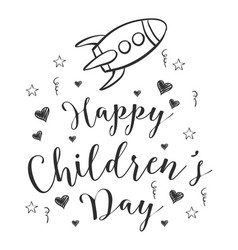 Doodle childrens day hand draw vector